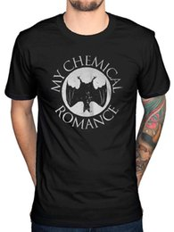 metal químico Rebajas Camiseta oficial de My Chemical Romance Bat Black Parade Band Album Rock Metal