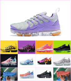 shoe strings Promo Codes - 2019 TN Plus Shoes For Men Women Royal Smokey Mauve String Colorways Olive In Metallic Designer Triple White Black Trainer Sport Sneakers