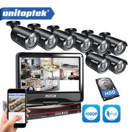 câmera de alerta por e-mail Desconto 8CH Sistema de Câmera de Segurança 8 Pcs Câmera IP 2.0MP Ao Ar Livre POE 1080 P 8CH PoE Kit NVR 10.1 '' LCD Monitor de Alerta de Email CCTV Kit