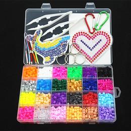 cuentas de hama 5mm Rebajas 5mm 24 colores Perler Kit, hama Beads con plantillas de accesorios para niños Diy Handmaking 3d Puzzle juguetes educativos