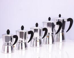 2019 cafeteras Cafetera de aluminio Mocha Espresso Percolator Pot Espresso Machine Coffeepot 3 taza de aluminio de quemadores Cafetera GGA2979 rebajas cafeteras