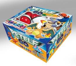 пластмассовая пластмасса Скидка Pikachu Аниме мультфильм собрать пластиковый шарик с куклы карты наклейки Pet PokeBall ПВХ Magic Ball Baby Дети Игрушки цифры 36 шт / набор LA137
