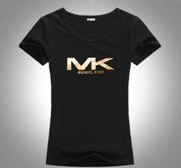 modischer kragen Rabatt Modernes heiß-verkaufendes Monogrammdruckkurzschlusshülse runder Kragen reine Baumwolldamen T-Shirt heiße Art Europas und Amerikas geben Fracht frei