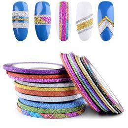 2019 diseños de cinta de uñas Etiqueta engomada de uñas mate Ancho del círculo 1 2 3 mm disponible Etiquetas engomadas coloridas de Nail Art Pegatinas autoadhesivas Círculo de manicura N50DL