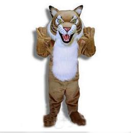 Trajes de personagens on-line-2019 Alta qualidade hot Animal filhotes tigre Traje Da Mascote Adulto Tamanho Personagem de Banda Desenhada Carnaval Partido Outfit Suit Fancy Dress frete grátis