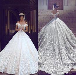 c1289416fa0 mariage chemise Promotion Arabie Saoudite Dubaï Robes de mariée de luxe à  manches courtes à l