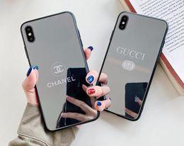 2019 blau überzogenes iphone 19ss Neue Designermarkenspiegel-Handyhülle für das iPhone X XR Xs Max 6 6S 7 8 plus stoßfeste Luxushülle A01