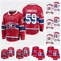 2019 jogador de hockey Montreal canadense Cole Caufield 36 Gianni Fairbrother 59 Jayden Struble 74 Hóquei Jersey 2019 Projecto Jogador Jersey Para Mens Woemens Juventude desconto jogador de hockey