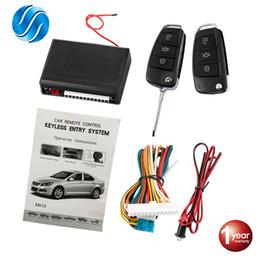 2019 vw schlüssel fob fall Auto Zentralverriegelung Auto Keyless Entry System Taste Start Stop Schlüsselbund Central Kit Universal Car 12V