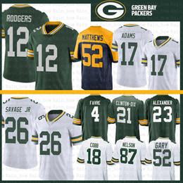 Grüne bucht trikots online-12 Aaron Rodgers Green Bay Jersey Packers 26 Darnell Savage Jr. 17 Davante Adams Brett Favre Rashan Gary 52 Matthews Jaire Alexander Nelson