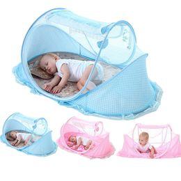 Mosquiteiro para bebês ao ar livre on-line-0-3 Anos Berço Do Bebê Cama Mosquiteiro Portátil Dobrável Berço Berço Mosquiteiro Algodão Sono Cama de Viagem conjunto