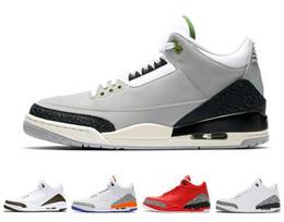 new product 628e7 49b41 Designer 3 3s Mens Basketball Shoes JTH Tinker True Blue men trainers QS  Katrina Black Cement Grateful sports sneakers Jogging shoes US 8-13 black cement  3 ...