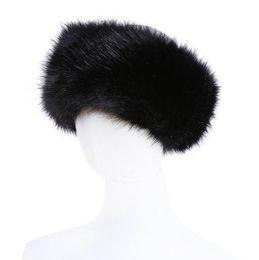 10 cores Das Mulheres Da Pele Do Falso Headband Luxo Inverno Ajustável quente Preto Branco Natureza Meninas Fur Earwarmer Earmuff Chapéus Para As Mulheres de