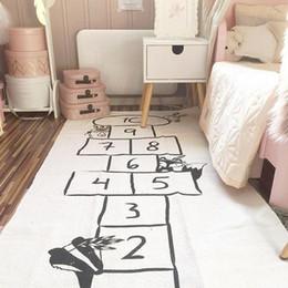 Juguetes de coches azules online-Juego del bebé suave alfombra de arrastre Alfombras Car Track patrón Rompecabezas nórdica estilo juguete de aprendizaje de los niños decoración de habitaciones Piso Moqueta T200111