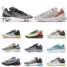 lightweight hiking shoes for men Coupons - 2019 React Element 87 Undercover running shoes for men women Royal Tint Sail Anthracite breathable mens trainers Lightweight sports sneakers