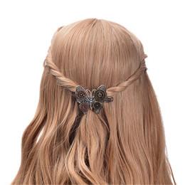 2019 mariposa steampunk Joyería de moda Steampunk Gear Alloy Butterfly Spring Clip Pinza de cabello Accesorios populares para el cabello Metal Alloy mariposa steampunk baratos