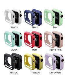Carcasa de TPU Candy para Apple Watch serie 4 3 2 Protector de cubierta colorido para iWatch 38 42 40 44mm Ajuste Banda de marco ultrafino desde fabricantes