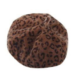 womens fashion beret Coupons - Fashion Sombrero mujer New chapeau femme Womens Warm Pure Color Leopard Beret French Artist Beanie flat cap
