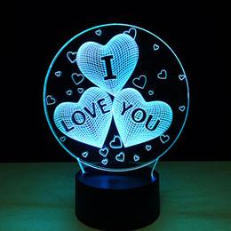 Luci di tocco di Luminaria di colore della lampada da tavolo di illusione 3D del club di calcio della luce notturna 3D per il San Valentino da
