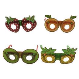 2019 novo criativo frutas em forma de óculos de sol moda infantil óculos decorativos artesanal diy partido dos desenhos animados óculos de festa favor bom item de Fornecedores de boneca cílios atacado