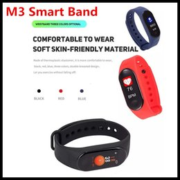 2019 compteur de sang oxygène au poignet Hot M3 intelligente Bracelet montre intelligente moniteur de fréquence cardiaque Bluetooth Smartband Santé Fitness intelligent Band pour l'activité Android iOS Tracker navire DHL