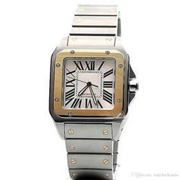 Relógio de pulso on-line-A quantidade limitada do carro Sans série W200728G relógio de pulso mens movimento automático face branca 316L cinta original de aço assistir men1226