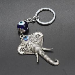 Colares de olho cruz on-line-Elefante animal chaveiro pingente de olho de vidro na Europa e as chaves do carro transfronteiriça jóias pingente