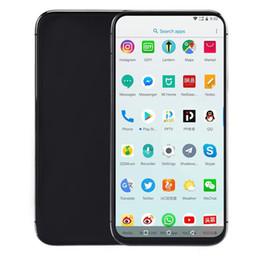 2019 videos de identificación 6,5 '' Goophone XI MAX Quad Core 1GB RAM 4GB ROM MT6580P ID de rostro Carga inalámbrica Teléfono desbloqueado videos de identificación baratos