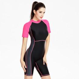 6e938e70e5bd Big code flat angle swimwear half sleeve one piece swimsuit women outdoor  sport backless bodysuit bathing suit bra no steel support 1757. US ...