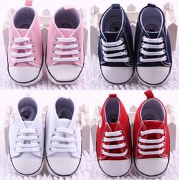 Nova Lona sapatas do esporte do bebê Recém-nascidos Meninos Meninas Primeiros Caminhantes Infantil Criança Fundo Macio Anti-slip Prewalker Sneakers 0-18 M de
