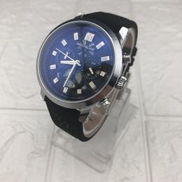 Temporizador de calidad online-Lo más vendido MB calidad AAA Temporizador pequeño dial trabajo reloj de marca de lujo relojes de moda banda de cuero hombre vestido casual reloj de pulsera de cuarzo