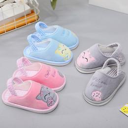 2019 bebê meninos sapatos ano 1-4 anos de idade da criança shoes bebê crianças primavera outono chinelos meninos meninas slip-proof home indoor interior macio solas infantil shoes y190525 desconto bebê meninos sapatos ano