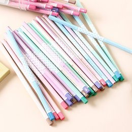 2019 lápis de cor 50 PCS Lápis Conjunto de Lápis Lápis Macaron Madeira Colorida para escritório escola escrita crianças Chumbo Esboço Cor Preta aparência desconto lápis de cor