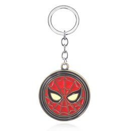 2019 superhéroes llaveros Llaveros de metal Superhéroe Spider Man Far From Home Llavero para llaves Hombre Coche Mujer Bolso Accesorios rebajas superhéroes llaveros