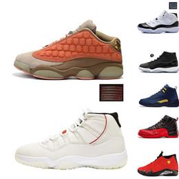 mens 13 scarpe alte Sconti 2019 Scarpe da pallacanestro retrò di alta qualità Scarpe da ginnastica con piattaforma alta da uomo Scarpe da ginnastica per uomo da uomo in cemento bianco Taglia 7-13