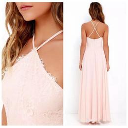 04ed8e7c6e4d4 Discount halter top chiffon bridesmaid dresses - Halter Lace Top A-Line Long  Bridesmaids Dresses