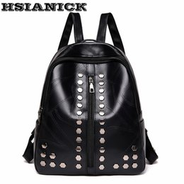 c8d8bf4e3e35 Backpack female fashion black 2018 new simple stitching college wind  shoulder bag soft leather backpack casual small discount female college bags