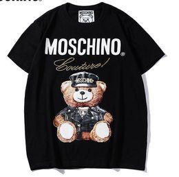 2019 wrc sport 2019 New Tee nero mosc cotone Orso modello lettera stampa manica corta O-Collo T-Shirt uomo e donna t shirt wear casual t-shirt S-XXL