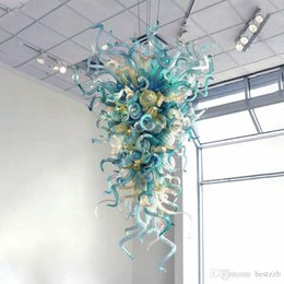 China Price Hand Blown Murano Glass Chandelier Cheap Modern Hanging Chandelier Lighting Green Shade LED Crystal Ceiling Lamp 3 Light Pendant Rustic