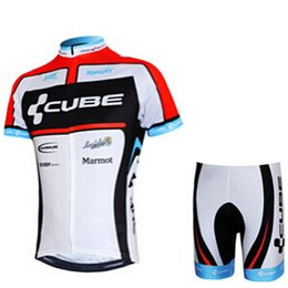 cube bicycle black Promo Codes - CUBE team Summer Mens Cycling Jersey shorts sets Short Sleeve Breathable quick-drying Bicycle Clothing Shirt