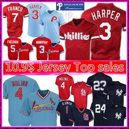 don mattingly jersey Rebajas Philadelphia Phillie retro 3 Bryce Harper 4 Yadier Molina Jersey Nueva York # 23 Don Mattingly béisbol Smith jerseys