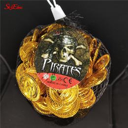 2019 moedas de ouro de brinquedo 50/100 Pcs Moedas de Tesouro de Brinquedo de Ouro Partido Pirata Suprimentos Finja Peito Crianças Brinquedo Coins Wedding Chip Decoração de Halloween 3 cm 6z desconto moedas de ouro de brinquedo