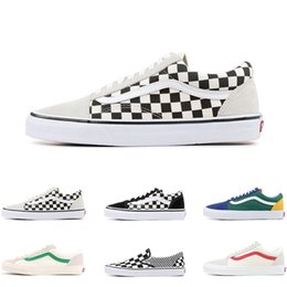 basketball shoes mix Promo Codes - Top old skool MIx Checker OTW REPEAT FEAR OF GOD CHECKERBOARD canvas mens sport sneakers fashion Athleticl shoes size 36-44