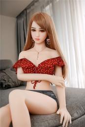 Brinquedo de boneca de sexo pequeno on-line-Japão Sexo Boneca sexo Oral, sexo da vagina, sexo mama, sexo anal 158 cm pequeno peito tamanho Amor Boneca com Metal Esqueleto Pé Sexo brinquedo da boneca