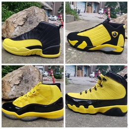 shoes 14 running Promo Codes - New 11 9 XI HIGH yellow black low 12 MEN basketball shoes 14 sports designer neakers outdoor trainers 2019 good quality size 7-13