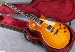 Argentina 1959 R9 Honey Burst Chinese Paul Style Guitarra eléctrica estándar con envío gratuito Suministro