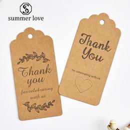 Diseños de la tarjeta de agradecimiento online-100 Unids / lote Gracias Tarjetas de Papel Kraft Bonito Diseño Fower Collar Pendiente Horquilla Broche Joyas Hechas A Mano Embalaje
