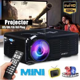 projetor vga Desconto projetor MINI USB projetor LED USB / SD / VGA HDMI AV LED portátil HD Beamer para Cinema