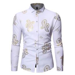 2019 estampar ropa 2019 Nueva Moda Africana Hombres Camiseta de Manga Larga Rich Bazin Print Ankara Vestidos Tradicional Estampación Caliente ropa para adultos rebajas estampar ropa