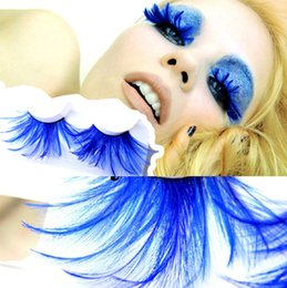 Canada 2019 Usine Fantaisie Plume Faux Cils Magnétiques En Gros Faux Cils Costume Crazy Party Pas Cher cils Extension cheap eyelash extensions Offre